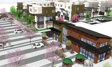 Townhouses, Commercial Center Pitched for Caltrans Properties